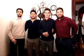 José Luis García, Adrian Martínez, Marco Rodríguez y Matias Colla
