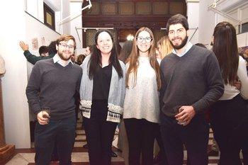 Fabricio Casaretto, Sofia Techera, Nicole Taragan y Santiago Fulco