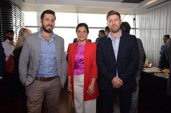 Carlos Pena, María Eugenia Brushi y Claudio Dorner