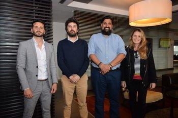 Emilio Crispino, Juan Manuel Stirling, Ignacio Pedreira y Jimena Parada