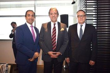 Segio León, Rogelio Benitez Vargas y Rene Orellana