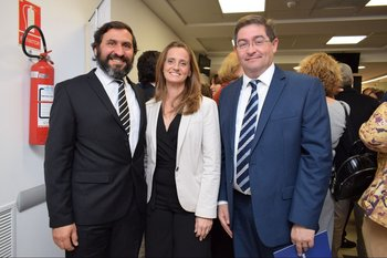 Álvaro Merele, Gabriela Piriz y Leonardo Cipriani