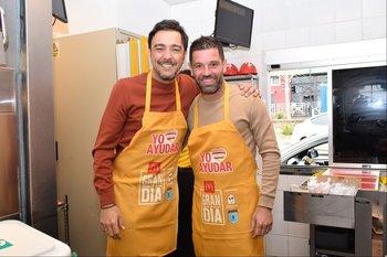Álvaro Recoba y Antonio Pacheco