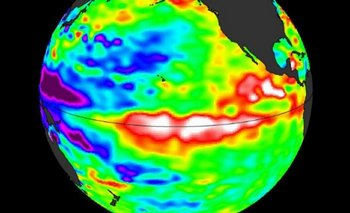 Cuando El Niño está activo, el agua del océano en la zona ecuatorial está más caliente