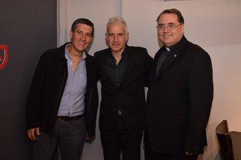Álvaro Cristiani, Gabriel Peluffo y Valentin Goldie