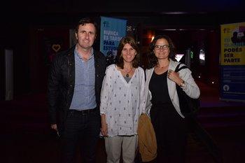 Rafael Vendrasco, Daniela Juri y Rosario Queirolo