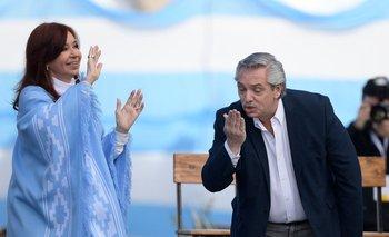 Cristina y Alberto Fernández durante la campaña presidencial de 2019 en Argentina