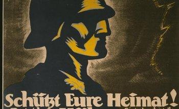 Cartel de propaganda de los Freikorps alemanes, organizaciones paramilitares de extrema derecha