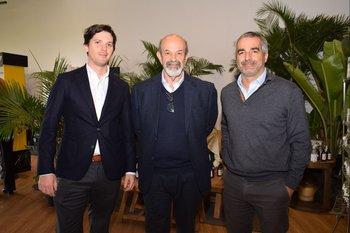 Juan Antonio Damiani, Luis Crisci e Ignacio Albanell