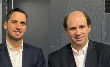 Agustín Pichot, vice de World Rugby, y Sebastián Piñeyrúa, presidente de Sudamérica Rugby
