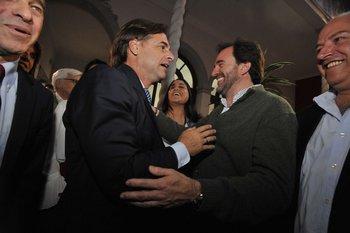 El presidente Lacalle Pou y el ministro de Turismo, Germán Cardoso