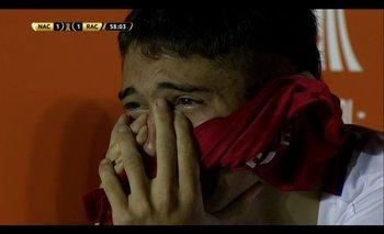 Las lágrimas de Emiliano Martínez tras su error ante Racing por la Copa Libertadores