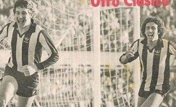 Fernando Morena y Venancio Ramos festejan un gol clásico para Peñarol