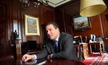 Presidente del BROU, Salvador Ferrer.