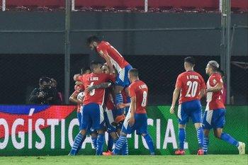 El festejo de Paraguay