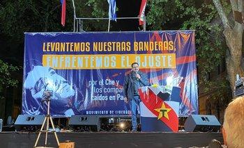 Alejandro Sánchez, durante su discurso