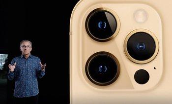 Foto de la presentación del iPhone 12.