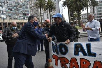 Orsi salió a defender al presidente del Pit-Cnt, Fernando Pereira