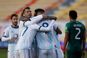 El festejo de Argentina