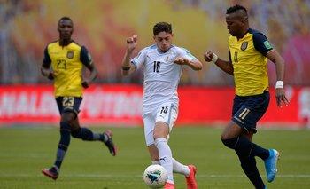 Valverde en Uruguay vs Ecuador