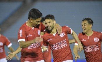 El festejo del gol que le dio el título del Apertura.
