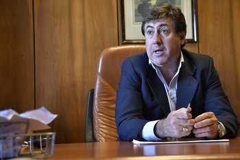 El director de Ancap, Richard Charamelo.