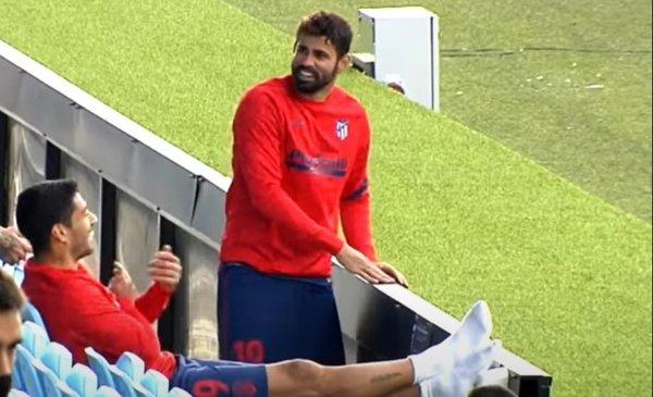mirá cómo Suárez le sacó el bajón a Diego Costa tras su lesión