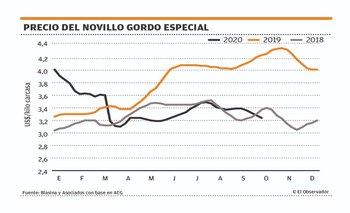 Imagen Quinta semana al hilo de baja en la referencia de precio del novillo gordo
