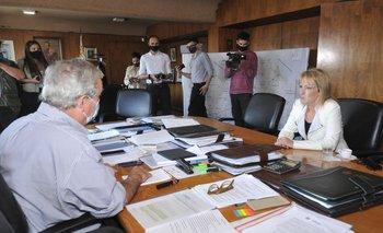 La intendenta electa se reunió con el ministro Heber