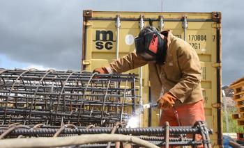 Obras para el tren de UPM en Las Pierdas, Canelones