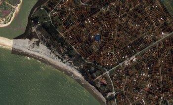 Vista aérea del terreno.