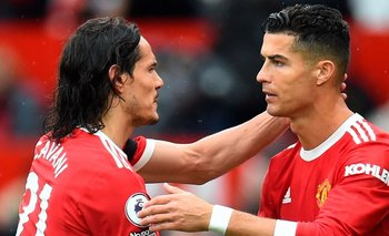 Edinson Cavani salió a los 56 minutos para que entrara Cristiano Ronaldo