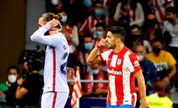 El gesto de Suárez tras convertir el gol