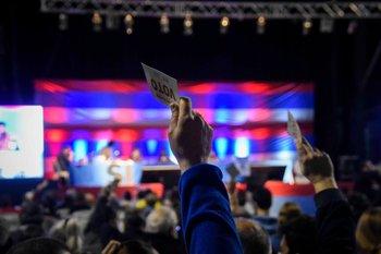 Congreso del Frente Amplio en el Palacio Peñarol