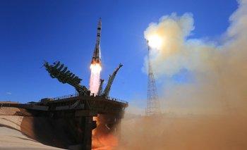 El despegue de la nave que llevó a los rusos al Espacio