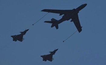 No es la primera vez que aviones chinos vuelan cerca del territorio de Taiwán