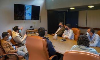 Los inversores privados en la presentación del proyecto.
