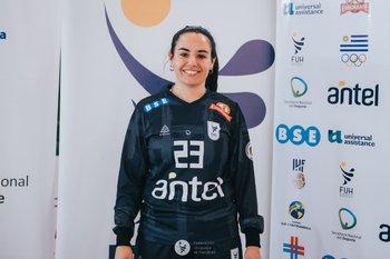Noelia Artigas, figura en el arco