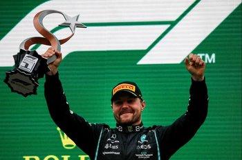 Valtteri Bottas celebra su triunfo en el Gran Premio de Turquía