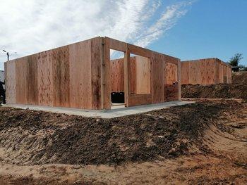 Construcción de viviendas de Mevir en Rivera