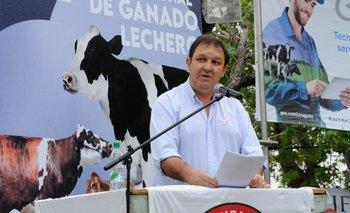 Pablo Olagüe, durante el discurso.