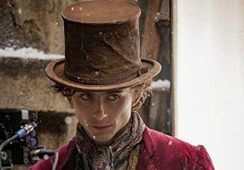 Timothée Chalamet como Willy Wonka