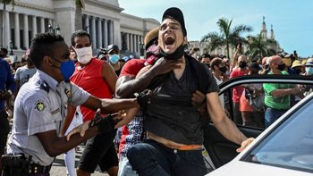 Cientos de cubanos fueron apresados tras las protestas del 11 de julio