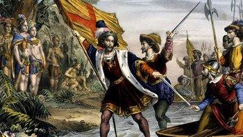 La llegada de Colón a América es celebrada en España como el inicio de la Hispanidad en América