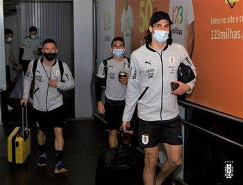 Nandez, Torreira y Cavani llegan a Brasil