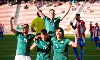 El festejo de Bolivia tras golear a Paraguay