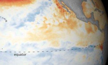Los expertos han detectado una disminución de la temperatura en el Pacífico.