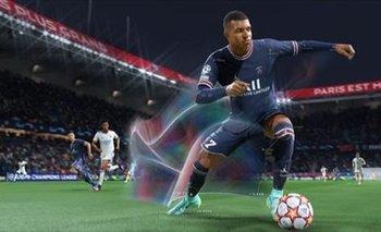 El jugador de fútbol francés Kylian Mbappé, en el videojuego FIFA 22
