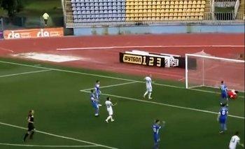 El gesto de Boyko tras recibir un gol