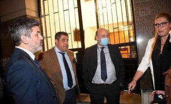 Los abogados en la puerta del Palacio de los Tribunales